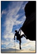 Climber Extreme Silhouette Climbing Rock Difficulties Sunset 79975 720x1280
