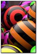 Balloons Striped Bright Line 47701 720x1280