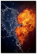 Heart Water Spray Fire