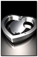 Apple Heart Silver