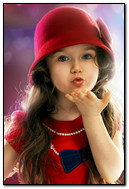 Little Girl Flying Kiss