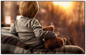 Little Boy With Teddy Bear
