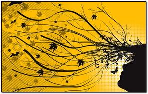 Yellow Autumn Silhuoette