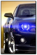 Chevrolet Camaro Blue Headlight