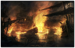 Ships On Fire