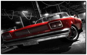 ..czerwony samochód..