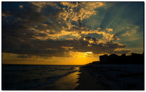 Sunset At Seagrove