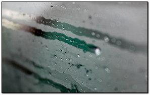 Water Condensation On Glass
