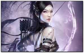 Fantasy Warrior Archer Girl