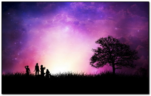In Purple Sunset