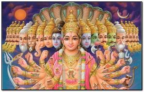 Hindu Gods Family