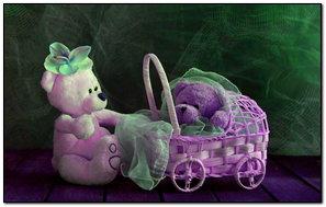 Purple Teddy