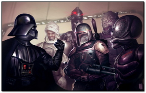Star Wars Force Despierta Darth vader Boba Fett Puño