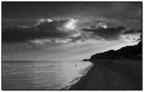 Black And White Sea view