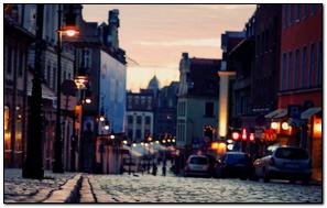 City Street Sunset