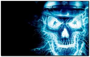 Neon Ghost Skull