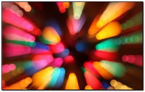 Colorful Christmas Bokeh