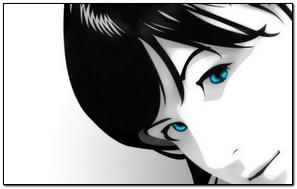 Trắng đen Girl Anime