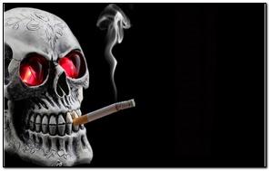 धूम्रपान की खोपड़ी