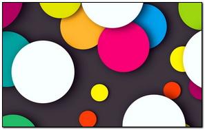 Kolorowe kropkowane