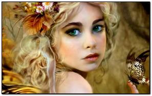 Fantasy Baby Fairy Thiên thần Với mắt xanh