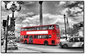 Xe buýt màu đỏ