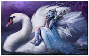 Animated Girl With Swan (R10)