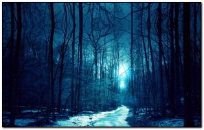 Đường tuyết màu xanh núi