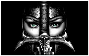 Green Eyes Warrior