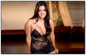 Black Dress Sunny Leone