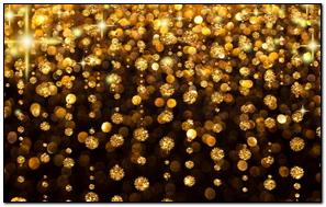 Gold Rain Shine Holiday Background