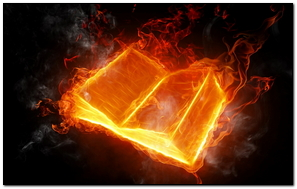Book Fire Flame Light Background