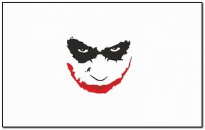 Heath Ledger Smiling White Background Joker