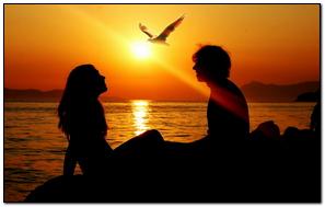 Girl Sunset Summer Ray Love Sea