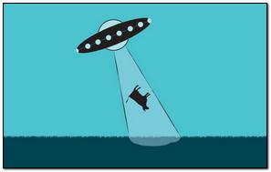 Ufos Aliens Cow Improvisation vector