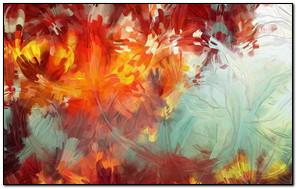 Autumn Leaves Oil Paint