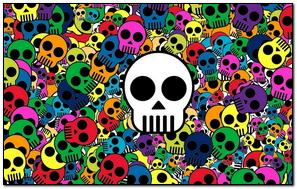 Skull Background Bright