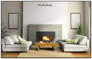 Paper vase Sofa Design Interior Fireplace Painting