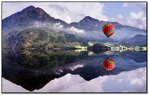 Balloon Mountain Lake Reflection