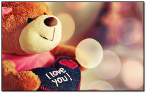 Toy Soft Bear Heart Love Glare