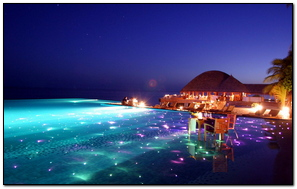 Maldives Tropical Resort Evening