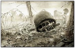 Resistance Skull Helmet