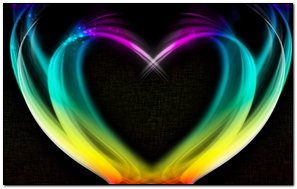 Heart Rainbow Smoke Colorful