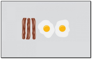 Bacon Eggs Food vector