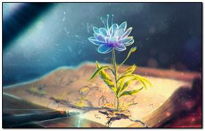 Flower Abstract Book Pen