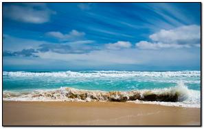 Ocean Sea Gulf Waves Blue Water Coast Beach