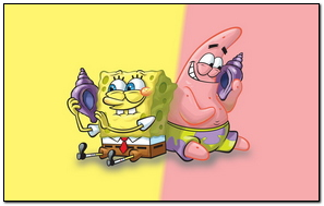 Spongebob And Patrick Chat With Shell