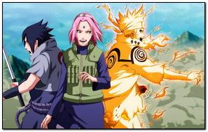 Naruto Uzumaki Naruto Uchiha Sasuke Girl Haruno