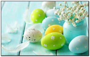 Easter Spring Eggs Flowers