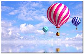 Balloons Flying Sky